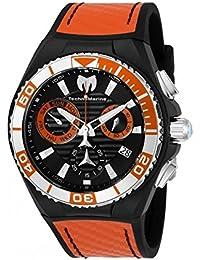 TechnoMarine Cruise Homme 45mm Bracelet Silicone Orange Boitier Acier Inoxydable Quartz Montre TM-115178