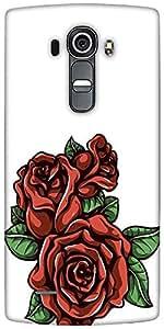 Snoogg Floral Vector Element Designer Protective Back Case Cover For LG G4