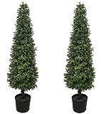 2Best Künstliche 4ft Getopfte, Buchsbaum Baum Kunstpflanze