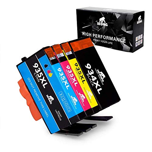 IKONG Compatible HP 934 XL 935 XL Cartuchos de Tinta, 4 Paquete, Alto Rendimiento, Trabajar con HP Officejet Pro 6830 6230 6815 6812 6835 6836 8610 8620 8630 8640 Impresora