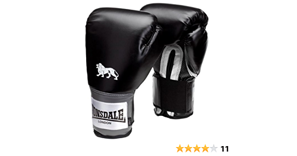 Lonsdale Lthr Pro Mitts Gloves Boxing Kick MMA Hand Wraps Fight Training
