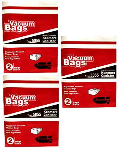 Vacuum Bags Einweg-Staubsauger Typ 5055 passend für Kenmore Canister -