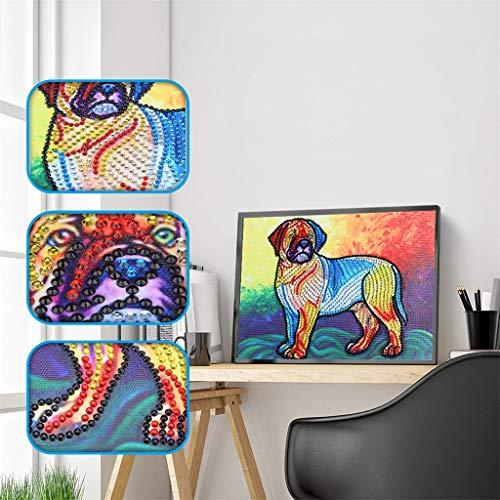 Amhomely 5D Diamant-Malerei Kit,Haustierhund,Intelligenzspielzeug für Kinder,DIY 5D Diamant Painting Kristall Stickerei Kreuzstich Arts Craft für Home Wand-Decor Fotografie-Requisiten-Hintergrund