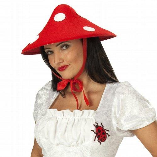 Pilz Hut Pilzhut Pilzmütze Fliegenpilz Kopfbedeckung Glückspilz Fasching Karneval Tierhut (Pilz Hut)