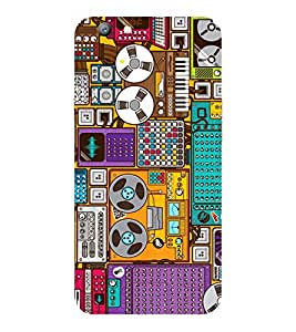 OPPO F1 S 2016 OLD MUSIC PRINTED BACK CASE COVER by SHAIVYA