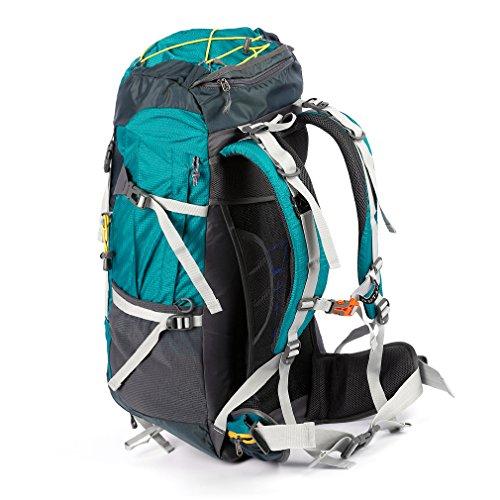 OUTAD 60+5 L Outdoor-Bergsteigen Jagd Camping Wandern Rucksack Bergsteigen Rucksack Hellblau