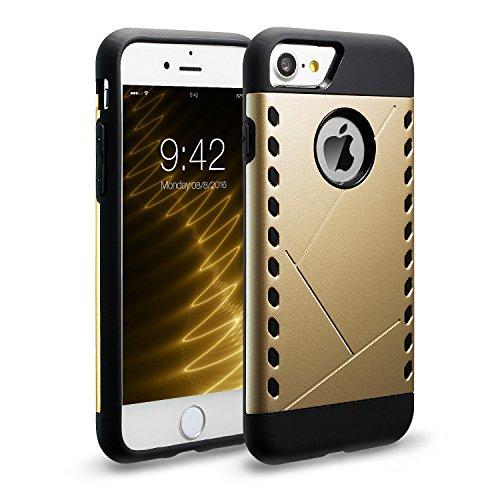 iPhone7 Hülle, Navy Schild Robuster Schutz Maximaler Schutz bei Stürzen, Stoßschutzhülle für das iPhone7 Schutzhüllen 4.7 Zoll Grau Gold