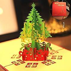 Idea Regalo - Biglietto Auguri Natale 3D Cartolina Auguri Natale Paper Spiritz Pop Up Christmas Card Biglietto Compleanno
