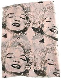 Damenschals Marilyn Monroe Chiffon Loop Schal Tuch Halstuch Loopschal Rundschal von Boolavard ® TM