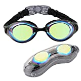Aegend Swim Goggles with Mirrored Lenses