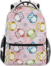 Preisvergleich für COOSUN Eulen zufällige Rucksack Schultasche Reise Daypack Mehrfarbig
