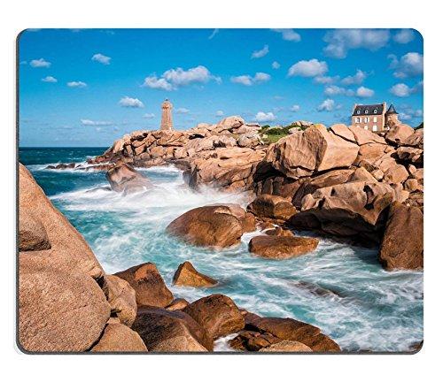 luxlady Gaming Mousepad Bild-ID: 32519427Atlantic Ocean Coast in der Bretagne near Ploumanac H Frankreich -