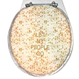 Let My People Go - Jewish Matzoh Cloth Toilet Lid Cover by Davida