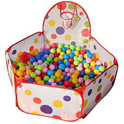 Kids Toddler Pop Up Ball Play Pit Pool Outdoor and Indoor,Baby Tent/Gym,Balls NOT included von TOPFIRE
