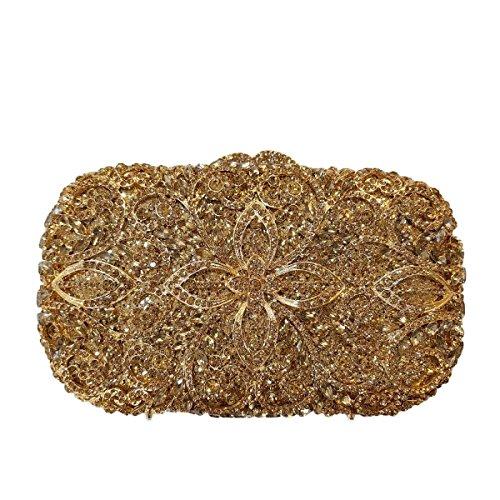 Bag Diamante Sera Di Lusso Banchetto Della Frizione Di Alta Qualità Delle Donne Deepgold