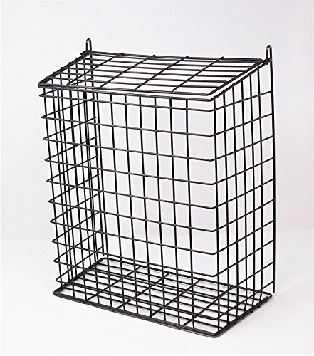 DWD ® Large Black Letter Box Door Cage Guard Protect Mail Post Dog Cat Proof, Fits all doors & Letter Box size of 30cm wide by DWD