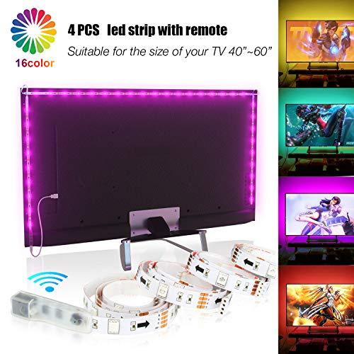 LED TV Hintergrundbeleuchtung 2m Kit Für 40-60 Zoll TV,Pangton Villa RGB 5050 led Strip mit Fernbedienung Usb TV Beleuchtung,MEHRWEG kaufen auf Amazon.de ab EUR 11,99