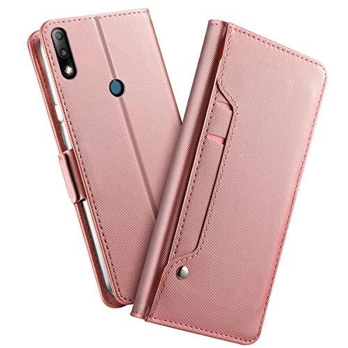 Forhouse Asus Zenfone Max Plus (M2) ZB634KL Leder Hülle, Premium PU Ledertasche etui Schutzhülle Tasche mit Ständer Slim Flip Case (Rose Gold)
