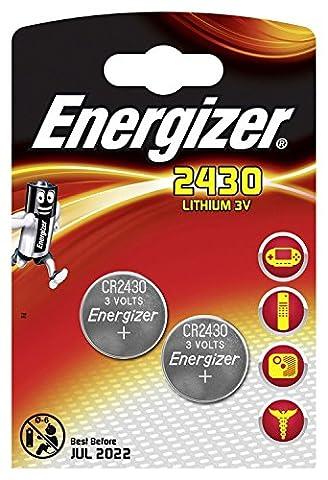 ENERGIZER Lot de 3 Blisters de 2 Pile Lithium CR 2430