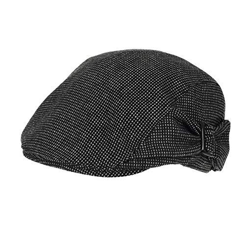 Lzling Female Hat Cap Europa Pendler Hut Plaid Herbst Mode Lässig Hut, Schwarz Grau, - Weibliche Ash Kostüm