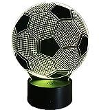 3D Fußball Lampe USB Power 7 Farben Amazing Optical Illusion 3D wachsen LED Lampe Formen Kinder Schlafzimmer Nacht Licht