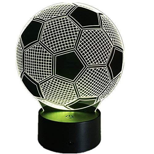 Bären-deckenleuchte (3D Fußball Lampe USB Power 7 Farben Amazing Optical Illusion 3D wachsen LED Lampe Formen Kinder Schlafzimmer Nacht Licht)