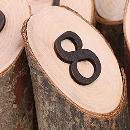 MA87 – Números de Mesa de Madera rústicos de 1 a 10 para decoración de centros de Mesa de Bodas, Fiestas de cumpleaños