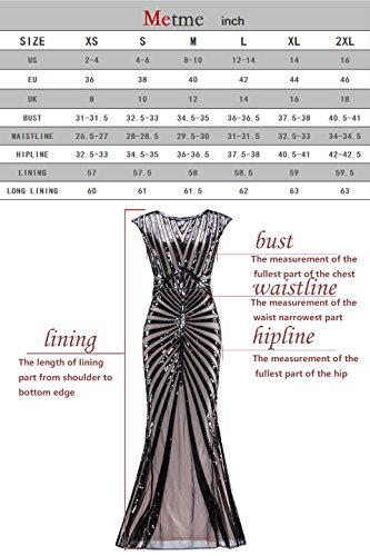 165bc7584ff04 Metme Women's 1920s Vintage Prom Fringed Sequin Long Flapper Roaring Gatsby  Dress ...