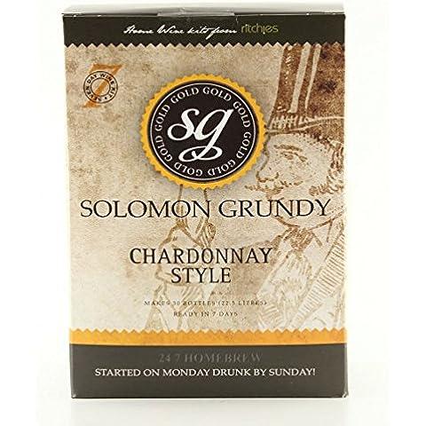 Home Made vino–Kit Salomone Grundy Oro Chardonnay–30bottiglie