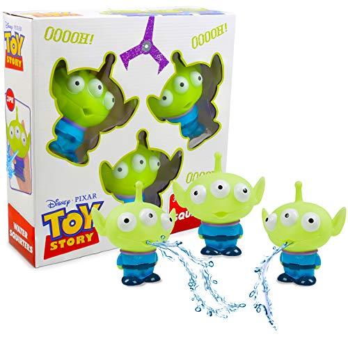 Disney Toy Story Badewannenspielzeug für Kinder | Set von 3 Alien Spielzeugen für Bad oder Schwimmbad | Draußen oder Drinnen Splash-Spiel für Kleinkinder