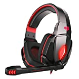 #9: Cosmic Byte Over the Ear Headphone with Mic & LED - G4000 Edition (Red)