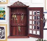 Regalo de la acción de gracias para sus seres queridos Caja de madera con incrustaciones de clave de diseño, titular de la clave Chex, suspensión de llave