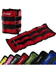 MOVIT® 2er Set Gewichtsmanschetten für Hand- und Fußgelenke, 7 Gewichtsvarianten, 2x 0,5kg – 2x 4 kg