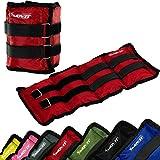 MOVIT 2er Set Gewichtsmanschetten für Hand- und Fußgelenke, 7 Gewichtsvarianten, 2x 0,5kg – 2x 4 kg