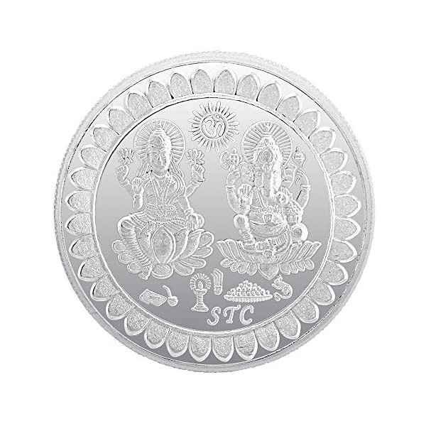 925 Silver Bis Hallmarked 100 Gram Laxmi Ganesh Silver Coin For Gifting