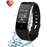 Fitness Tracker Semaco Heart Rate Monitor Wireless Smart Bracelet Waterproof Activity Tracker Pedometer Wristband Sleep Monitor Smartwatch for Android and iOS Smartphones iPhone 7 7 Plus 6 Samsung S8