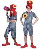 Clown Kostüm Badeanzug Blau Weiß Gr. M