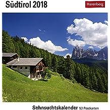 Südtirol - Kalender 2018: Sehnsuchtskalender, 53 Postkarten