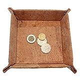 boshiho Kork Jewelry Catchall Schlüssel Münzbox EDC Valet Tablett ändern Caddy Nachttisch Aufbewahrungsbox Umweltfreundlich Geschenk, hautfarben, 8.3 x 8.3 x 0.2 inch