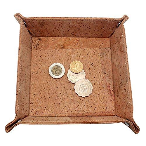 boshiho sughero Jewelry CatchAll chiave Coin Box Valet vassoio cambiamento Caddy comodino scatola regalo ecologico