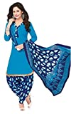 AASRI Women Blue Party Wear Cotton Print...