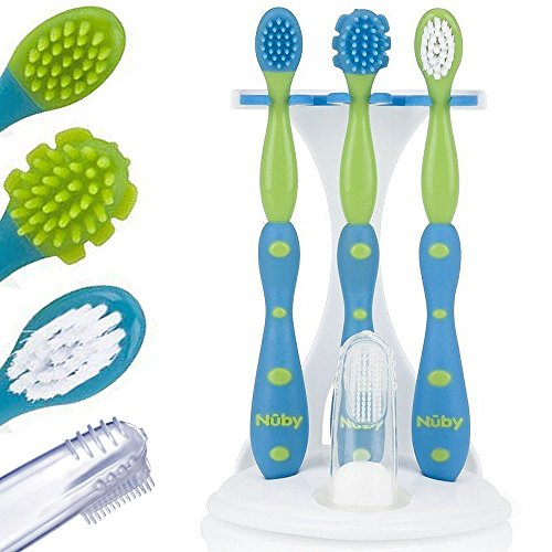 Nuby 5-teiliges Zahn- und Zahnfleisch Pflegeset für