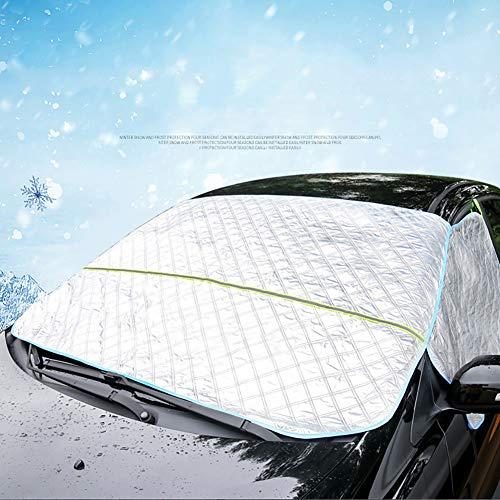Wuudi Frontscheibenabdeckung Auto Scheibenabdeckung Windschutzscheibe Abdeckung Magnet Fixierung Faltbare Auto Abdeckung für Windschutzscheibe gegen UV-Strahlung, Sonne, Staub, Schnee, EIS, Frost