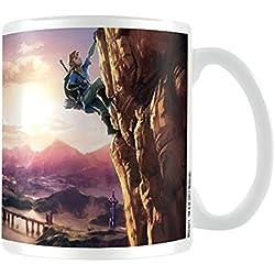 La Leyenda de Zelda: aliento de la Wild la Climb taza de cerámica, multicolor