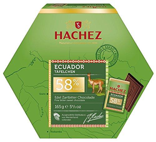 Hachez - Ecuador 58% Edel Zartbitter-Chocolade Täfelchen - 165g