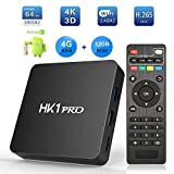 Android 8.1 TV Box, SeeKool HK1 Pro Smart TV Box S905X2 Quad Core 64 bit, 4GB RAM+32GB ROM, BT 4.1, 4K*2K UHD@60fps H.265, Android Set-Top Box Soporte 2.4G / 5.0G Dual WiFi / 3D/ USB3.0