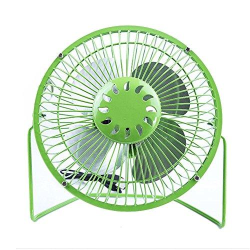 YEARNLY USB & Wiederaufladbare Ventilator 6 Zoll Metall Tischventilator,tragbare Lüfter Desk Fan 2 Geschwindigkeiten, für Hause Büro usw.