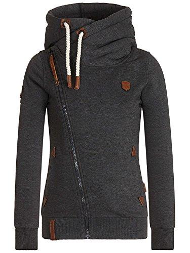 Naketano Female Zipped Jacket Family Biz anthracite melange