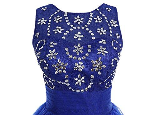 Bbonlinedress Robe de cérémonie Robe de bal en tulle forme marquise longueur ras du sol Rose