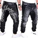 Kosmo Lupo Herren Jeans Hose Clubwear Freizeit Denim Schwarz (Schwarz (J.2.1 KM101), W29/L32)